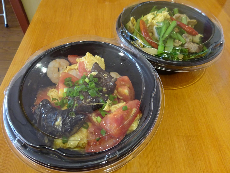 桃仙人テイクアウト海老トマト